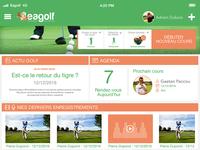 Eagolf App - Dashboard