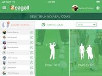 Eagolf App - Choice of training