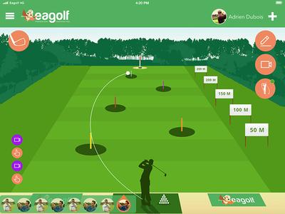Eagolf App - Training uiux design app golf app