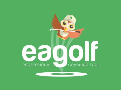 Logo eagolf golf logo design