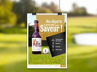 Poster La Boule Rouge 2019 golf poster