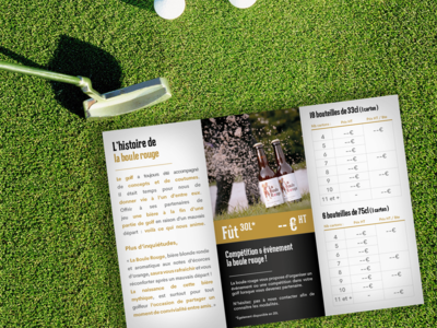 Flyer3 La Boule Rouge (2) design golf flyer