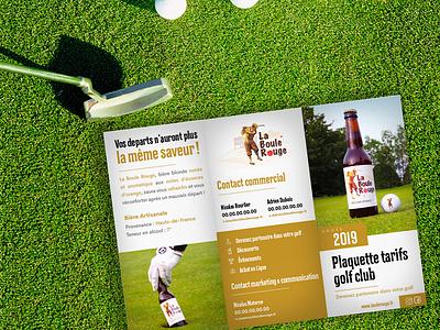 Flyer3 La Boule Rouge design golf flyer