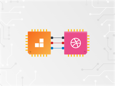 Hello Dribbble! 👋 circuit board order ahead dribbble debut circuits dribbble levelup