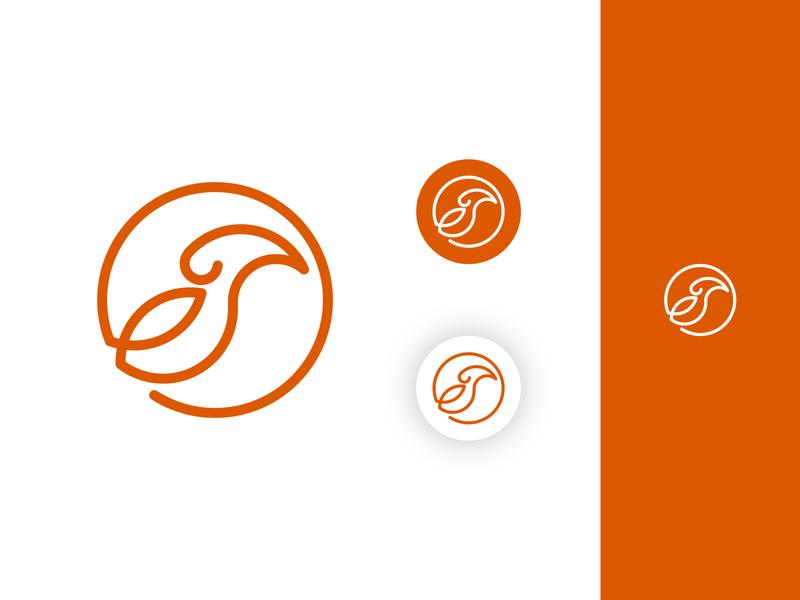Wandering Sten - Bird Logomark logo designer modern logo circle simple logo line logo animal logo logomark bird logo logo design