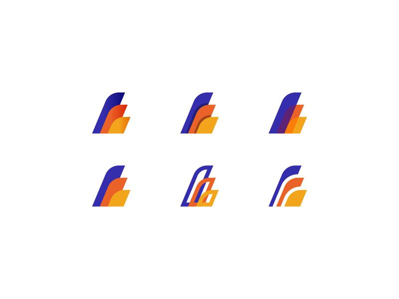 Wings Logomark logo designer creative logo logo inspiration shape logo simple logo line logo gradient logo logo set modern logo fly logo air logo wings logo logo design