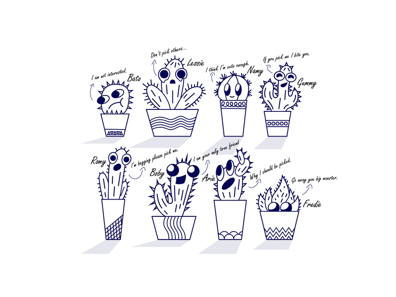Fun Cactus talking plants character design spike plants illustration cactus drawing cactus illustration plants doodle cactus doodle doodle creative designer assets flatdesign playful cute lineart plants cactus drawing illustration
