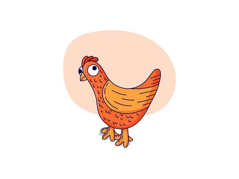 Cute Chicken fun illustrator vector design vector art playful cute funny chicken character animal illustration cute character cute drawing cute chicken chicken illustration chicken drawing animal chicken illustration