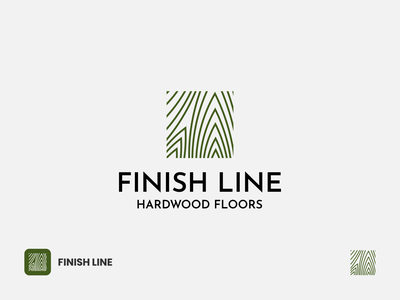 Finish Line Hardwood Floors Logo businesslogo floors hardwood tree nature icon modern branding corporate professional lineart symbol texture logo