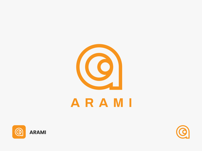 Arami Logo a logo alphabet logo letter a lettermark branding lens linelogo lineart logodesign modern camera icon symbol logomark look future vision eye photography camera lenses