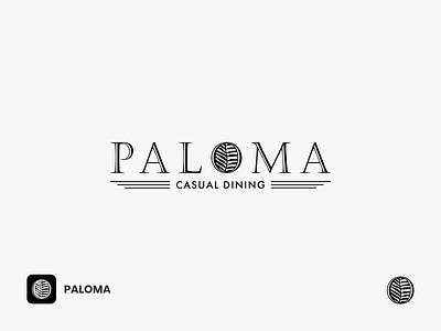 Paloma Logo bistro cook food restaurant branding dining leaves nature serif font serif logo logotype elegant logo classic logo vintage logo logodesign restaurant