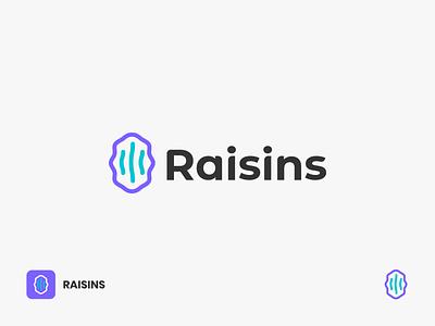 Raisins Logo snacks food seed fruits logo raisins logo logodesign grape branding software raisins fruit linelogo lineart logo app digital