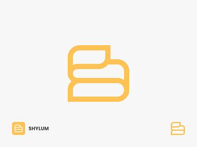 Shylum Logo lettermarks smooth soft comfort logomark app icon symbol folding paper logo elegant logo minimalist logo line art logo lineart s alphabet alphabet logo s letter logo s s logo letter logo logo design