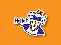 Cableman Sticker