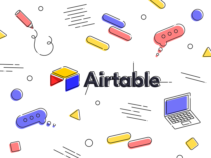 Airtable! airtable color illustrator announcement icon branding graphic vector illustration design job