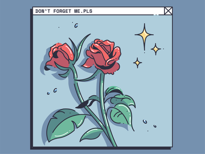 don't forget me.pls icon vector procreate colorway drawing illustrator graphic color design illustration