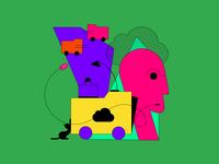 IT company identification icon colorful illustration ui vector logo design identification font branding