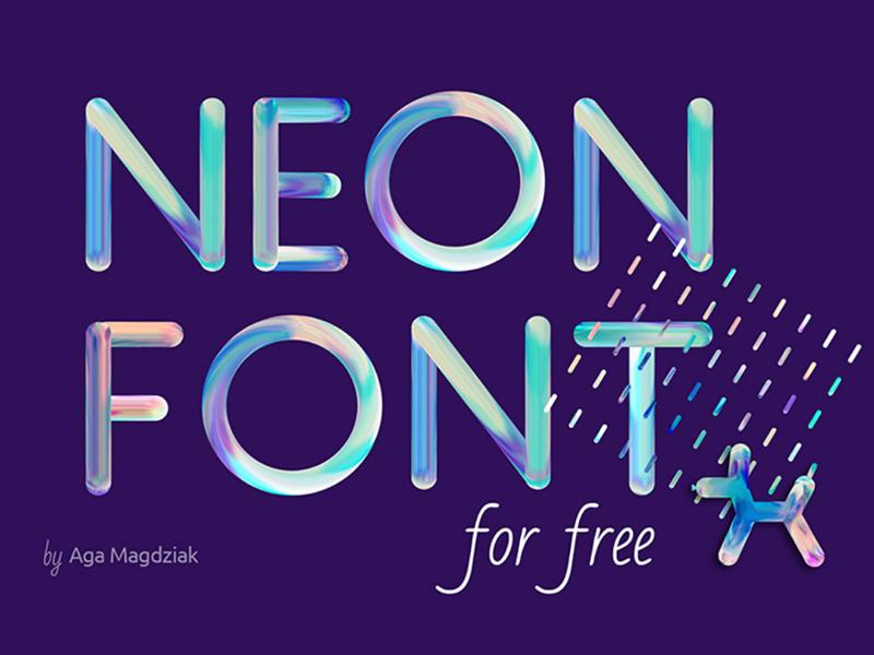 FREE NEON FONT neon letters neon font free font