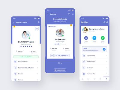 Healthcare Mobile Template ui design healthcare medical health ui kit template sketch ios mobile ux ui