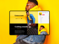 Music Artist – Landing page concept