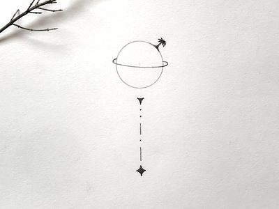 Lonely planet. graphikdesigner simple tattoo minimalism drawing illustration planetillustration planet lonelyplanet
