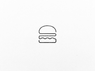 A minimalistic burger illustration out of one line.
