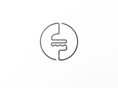 Burger logo out of one line.