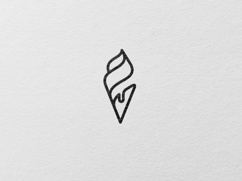 A simple ice cream logo design. minimal graphic design graphic design mationdesign logo design mationdesign logo mationdesign minimal ice cream logo ice cream logo ice logo ice cream oneline simple minimal logo design minimalistic logodesign logo minimalism