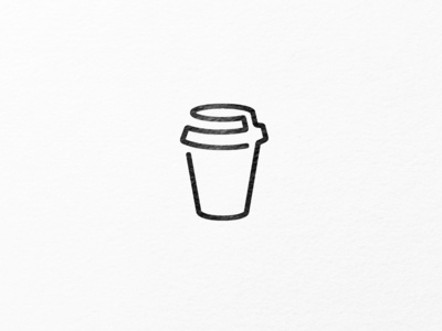 coffee cup out of one line.