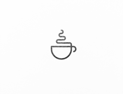A minimalistic logo design for a coffee shop out of one line.