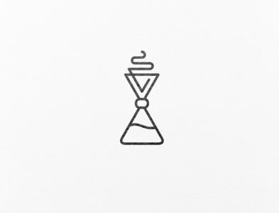 A minimalistic chemex logo design.