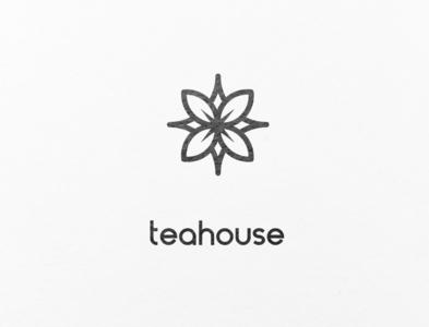 A minimalistic for a tea shop.