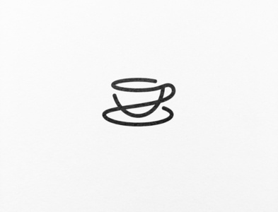 A minimalistic logo design for a cosy coffee shop.