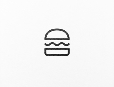 A very minimalistic logo design for a burger shop.