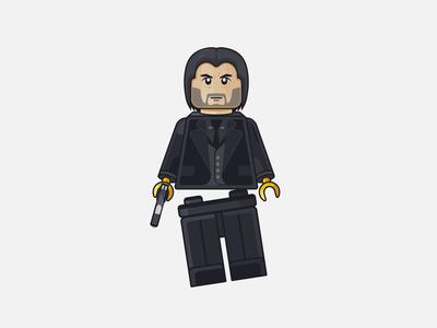 "Lego figure ""John Wick"""
