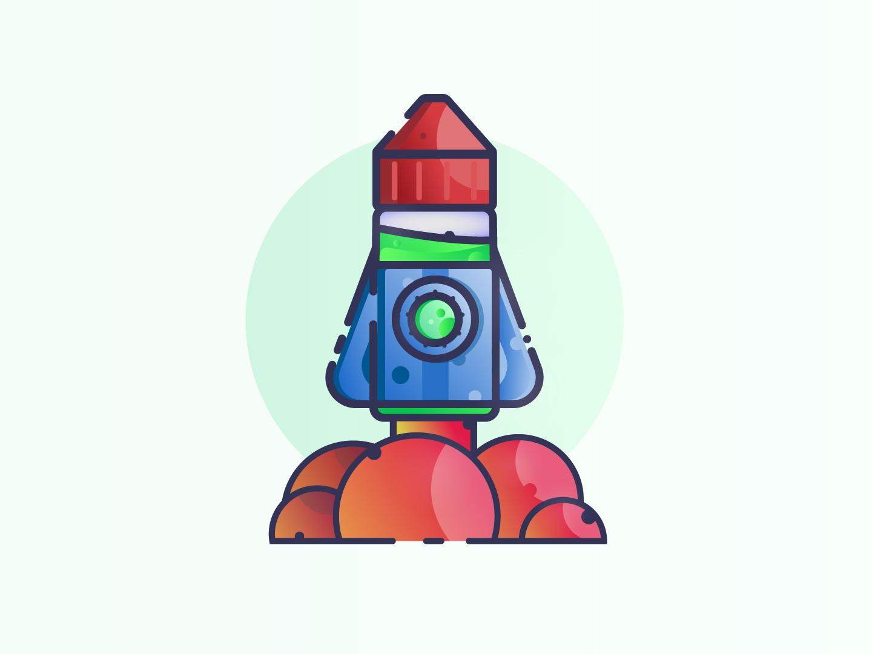 Space Juice vaping liquid vape vector material logo design sticker adobe illustrator space minimal illustration