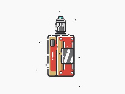 My mod vaping vaporizer vaper vape vector adobe illustrator design sticker minimal material illustration