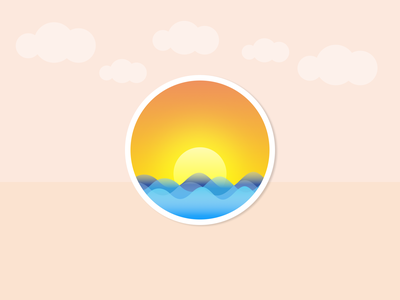 Summer Badge dribbbleweeklywarmup weeklywarmup experimental beach sun summer gradient illustration