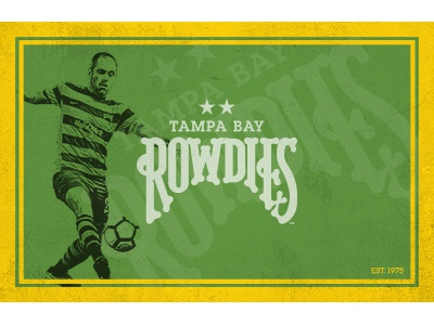 Vintage-style Rowdies Poster photoshop joe cole poster 1975 rowdies sports soccer