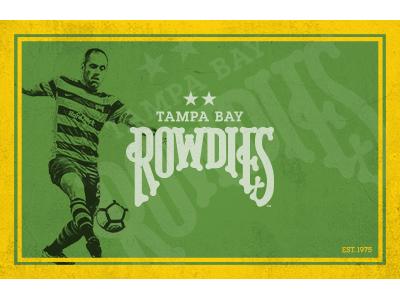 Vintage-style Rowdies Poster