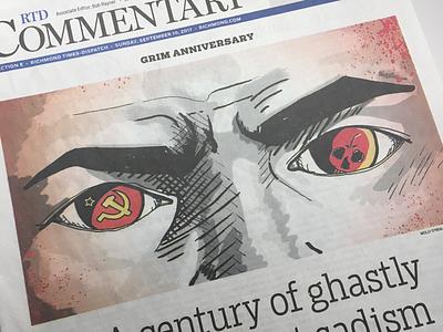 Bolshevik Revolution communism photoshop pen and ink editorial illustration