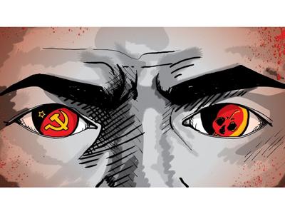 Bolshevik - detail communism photoshop pen and ink editorial illustration