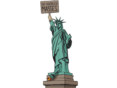 RTD Commentary Illustration statue of liberty richmond rtd photoshop pen and ink illustration editorial