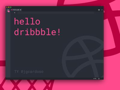 Hello Dribbble. Let's Job! code design illustration illustrator first shot dribbble hello