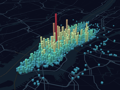 NYC Taxi Pickup Point Density visualization maps map geovisualization