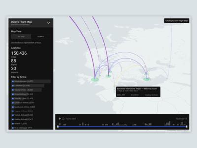 FlightMapper Map View - Light