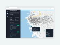 Fleet Management Dashboard - Sidebar & 3D Buildings