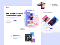 Foyl Landing Page v2 colors playful kids videogame twitch stream mobile coming soon figma iphone ios fortnite app game website landing page landing web ux ui