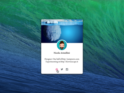 Yet Another Profile Card ui ux card freebie osx mac sketch minimal widget apple free
