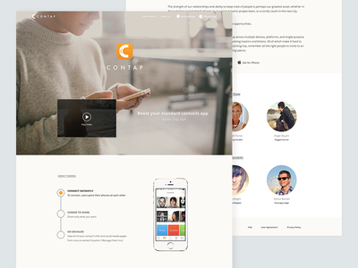 Landing Page Redesign ui ux web landing page app iphone ios orange simple clean web design